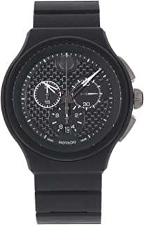 Movado Men's Black Dial Stainless Steel Band Watch - 606929