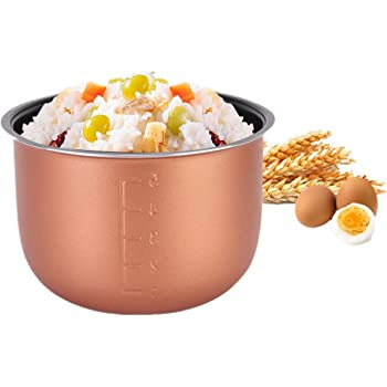 Inner Cooking Pot - Non-stick Inner Cooking Pot Stainless Steel Liner Container Replacement Accessories for 1.5L 1.6L Rice Cooker Single