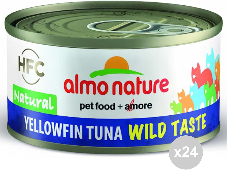 Almo Nature Set 24 Cat 5320 Can 70 Tuna Wild Taste Cat Food, Multicoloured, One Size