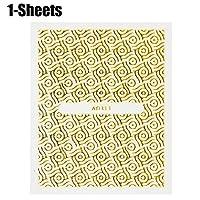 Kapmore ネイル用シール ステッカー ゴールド キラキラ デザイン 貼る 自宅 簡単 ネイルアート 全26タイプ ガム紙
