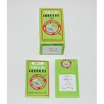 Violin DBX1-14/16/18 - 100 agujas para máquina de coser industrial ...
