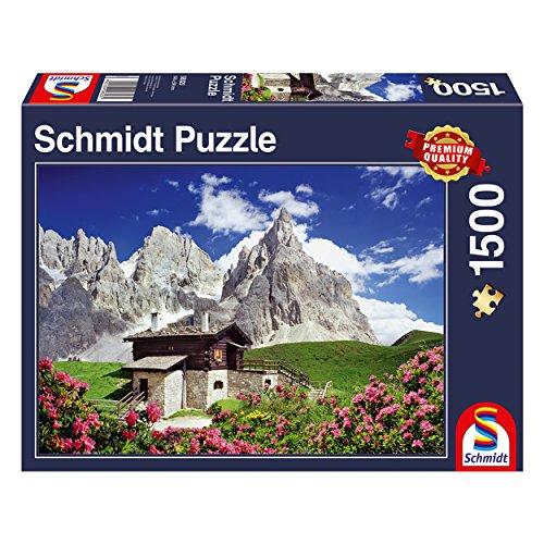 Schmidt Spiele Puzzle 58323 Segantinihütte, Dolomiten, Puzzle, 1500 Teile