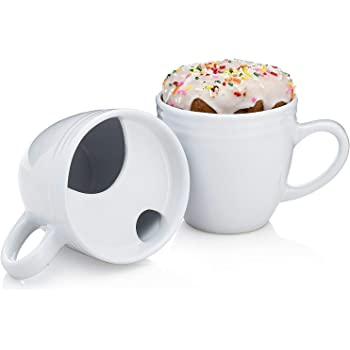 Best.Morning.Ever. Coffee/Tea Mug with Donut holder GIFT BOX ORIGINAL - Keeps Tea & Coffee Hotter for Longer