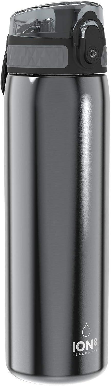 Ion8 Botella Agua Acero Inoxidable Sin Fugas, 600ml