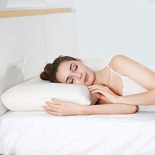 UTTU Almohada de espuma viscoelástica, almohada cervical con altura ajustable, almohada con funda de bambú removible y lavable, almohadas para dormir para los lados y la espalda