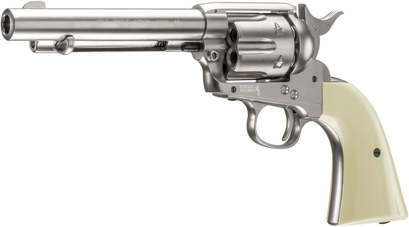 Colt Peacemaker Revolver Single Action Army Six-Shooter .177 Caliber Air Pistol, Spare BB Capsules, Gold (6 Pack) : Sports & Outdoors