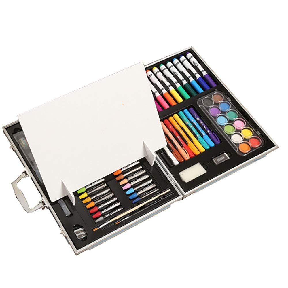 Sikungjlk Set de Arte Papelería Infantil para niños Juego de 108 Piezas Caja de Madera de Calidad Conjunto para Pintar Acuarela para Dibujar y Dibujar Set de Pintura de Estuches: Amazon.es: Hogar