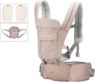 Ergonomic 360° Best Baby Soft Carrier, Comfortable Adjustable Positions,Breastfeeding Fits All Newborn Toddler,HipSeat Infant and Backpack,All Seasons,Perfect for Hiking Shopping (Khaki Carrier)