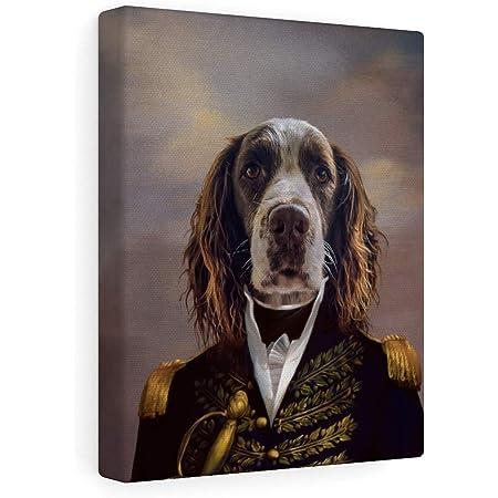 Amazon Com Fur Art Love Custom Pet Portrait Renaissance Style On Canvas The Admiral 8 X10 Posters Prints