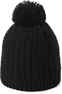 Jeff & Aimy Women's Acrylic Knitted Slouch Pom Beanie Hat Warm