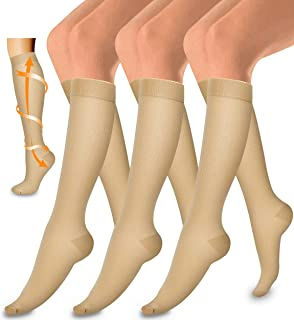 Copper Compression Sock Women and Men-Best Running, Athletic Sports, Flight Travel