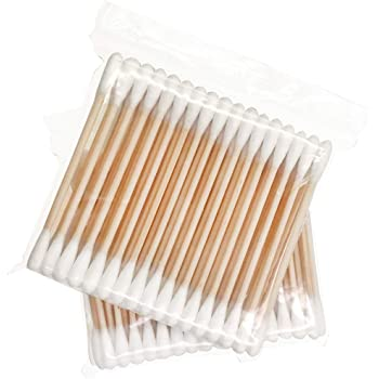 Wooden Cotton Swabs 400pcs, Biodegradable Travel Cotton Bud - 8 Packs of 50