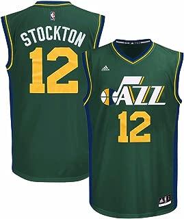 adidas John Stockton Utah Jazz NBA Men's Green Replica Jersey