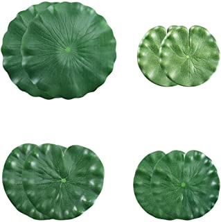 HO2NLE Artificial Lilies Pad Realistic Non-Toxic Floating Water Mat for Home Garden Patio Koi Pond Aquarium Swimming Pool Bird Baths Wedding Party Decor Pack of 8 (15cm+18cm+22cm+30cm)