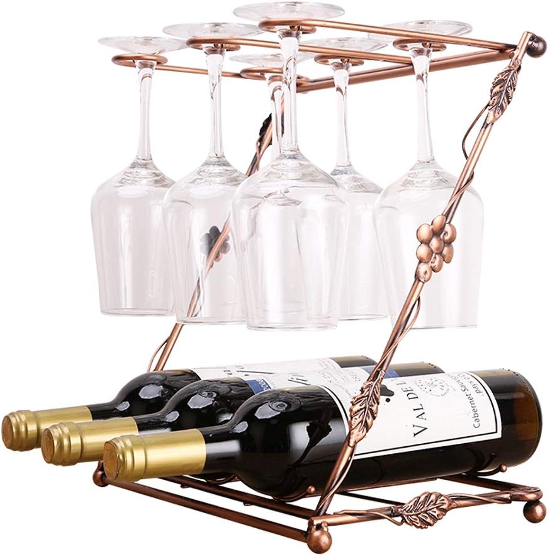 Wine Rack, Multi-Function, Hanging Goblet 42  23.5  39cm (color   B)