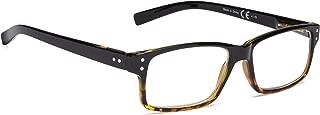 Vintage Reading Glasses Men Women(Black/DEMI,+1.75)
