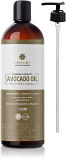 Avocado Oil 16oz, 100% Pure Moisturizing Oil, Nutrient Rich Hydrating Oil, Cold Pressed Carrier Oil for Aromatherapy, Mass...