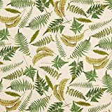 Fabulous Fabrics Halbpanama Natur, Pflanze, 140cm breit