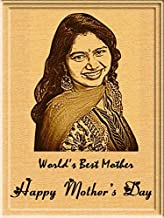 Incredible Gifts India Incredible for Mom - Customized Engraved Wooden Photo Plaque (5 x 4 inches, Beige)