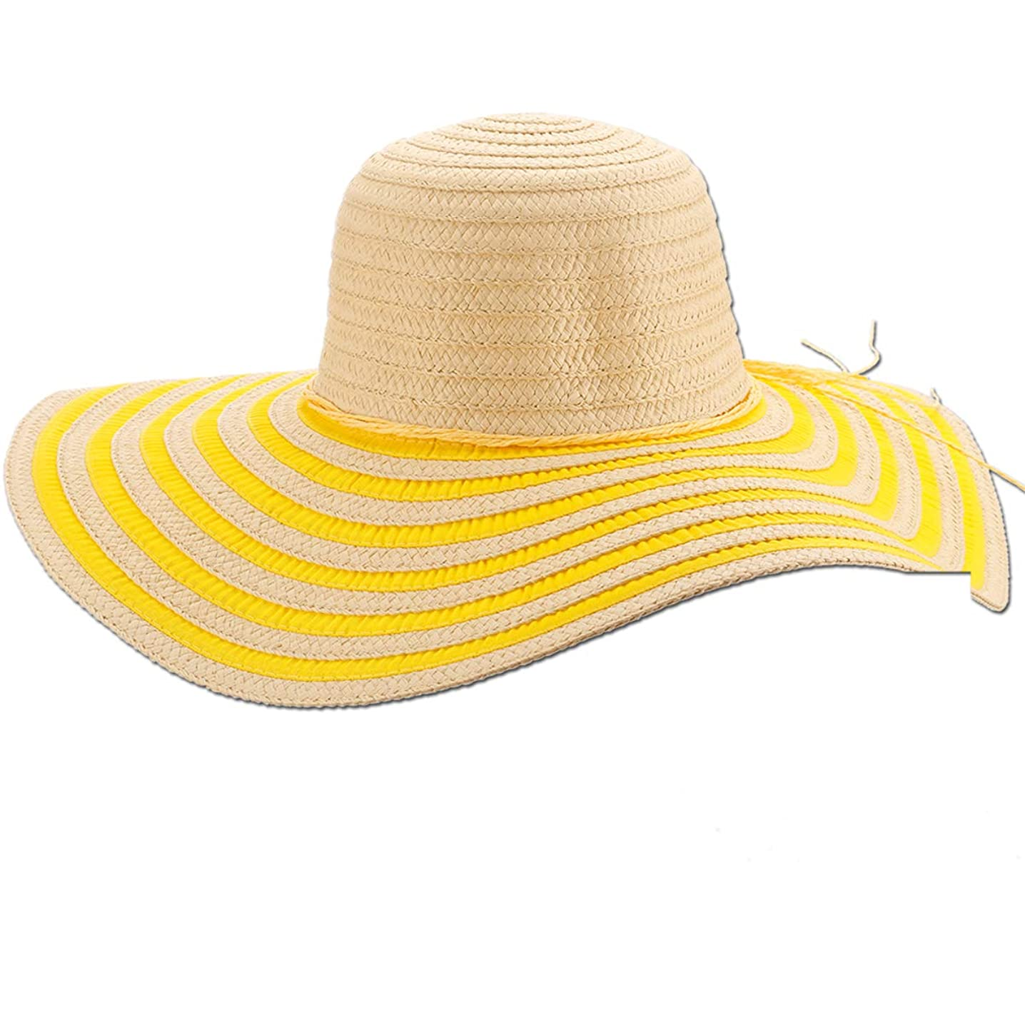 Panama Jack Women's Sun Hat - Packable, Lightweight Braid/Ribbon, UPF (SPF) 50+ Sun Protection, 5
