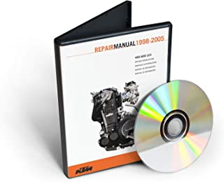 KTM 250, 400, 450, 520, 525 SX, MXC, EXC Racing engine Service & Repair Manual [CD-ROM] (fits year: 2000, 2001, 2002, 2003)