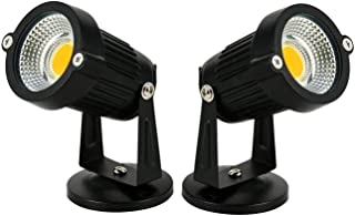 Improvhome 5W LED Outdoor Garden Spot and Spike Light IP65 in Warm White Color (Pack of Two)