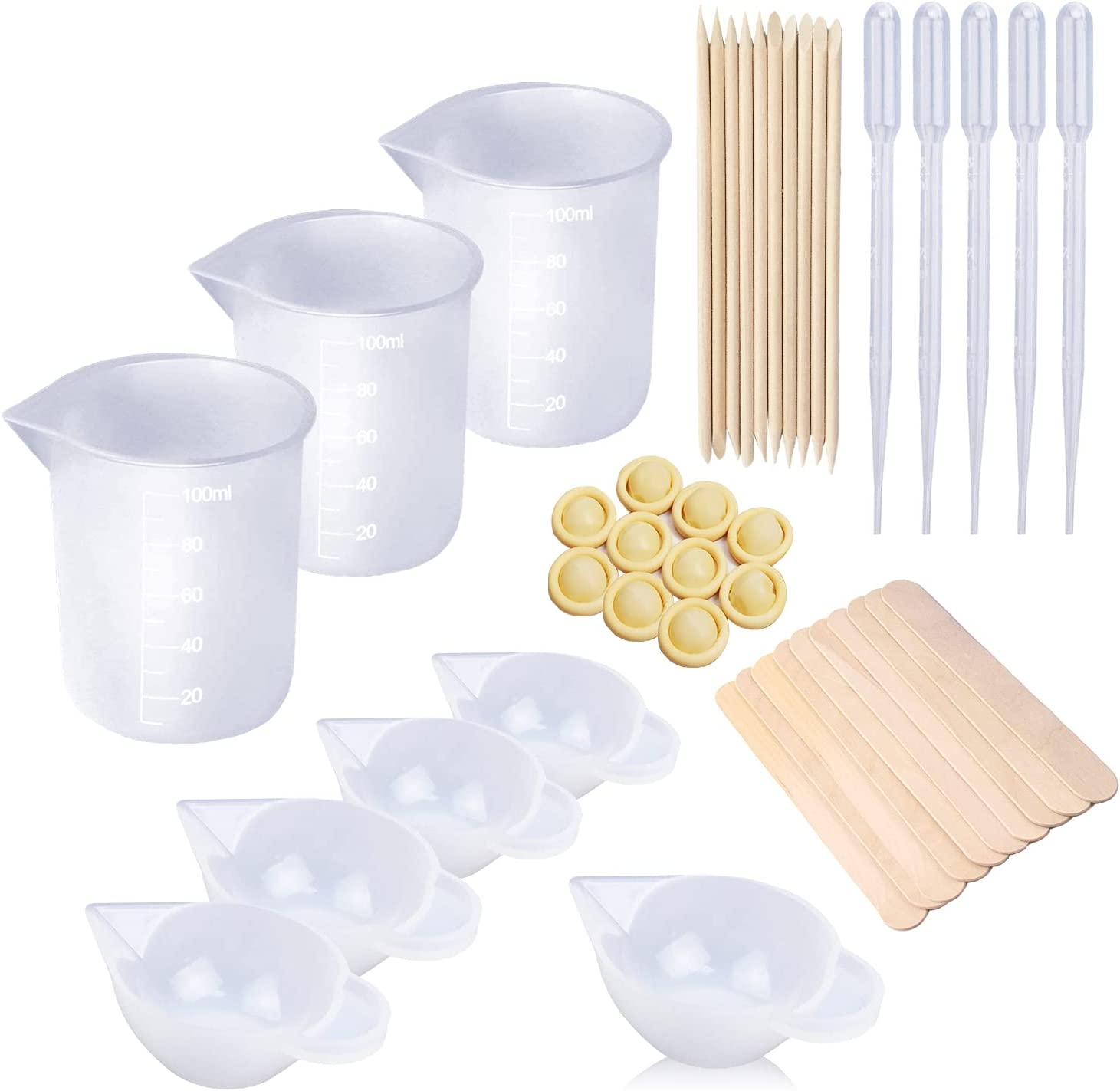 List price LET'S RESIN 8PCS Silicone Measuring Cups N Resin 100ml Attention brand for 10ml