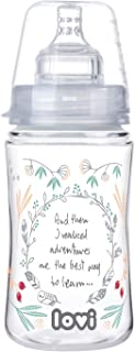 LOVI Trends Feeding Bottle Indian Summer - 240 ml - 3+ months - Anti-colic SUPER air vent system, Hard, wide, profiled tea...