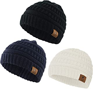 Aigemi Baby Boy Winter Hat Infant Toddler Kids Chunky Warm Winter Knit Beanies Hat for Girls Boys