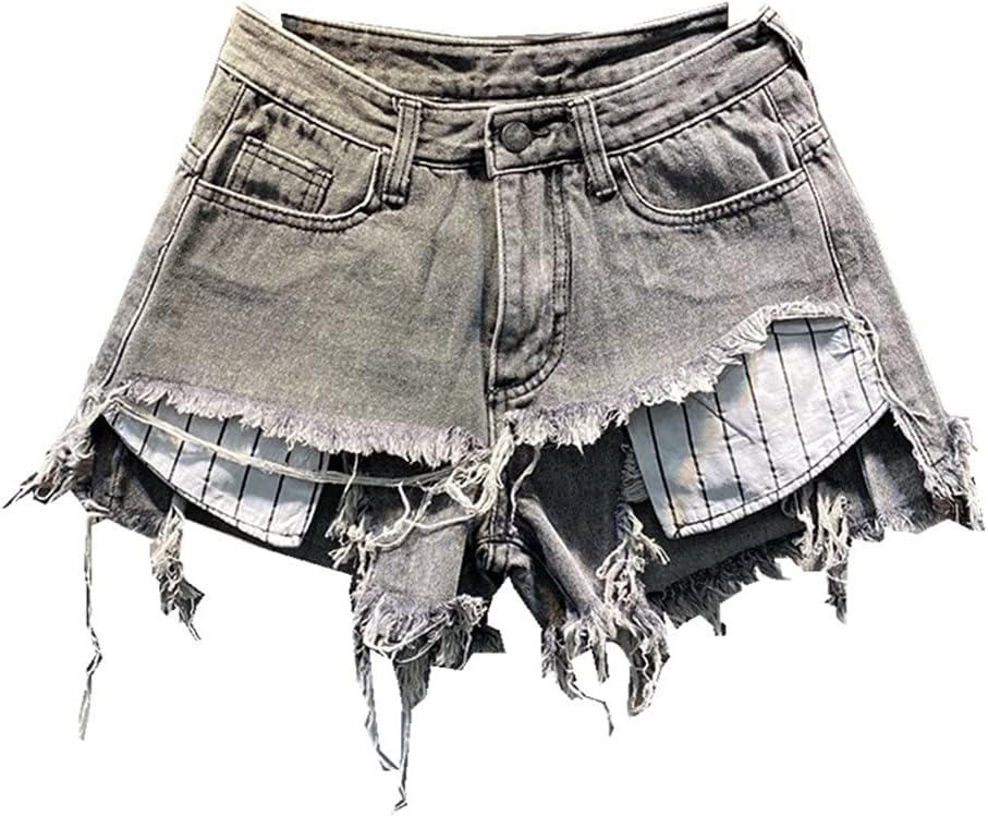 PDGJG Clearance SALE! Limited time! High Max 75% OFF Waist Slim Denim Shorts Loose Wide-Leg A-line