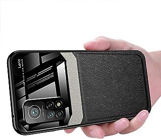 Xiaomi Mi 10T / Mi 10T Pro Case, Ikwcase Business Slim Litchi Skin Anti-slip TPU Bumper Hybrid Glass Lens Protective Case ...