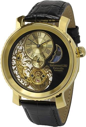 orologio calvaneo 1583 estaville gold automatico cm-ess-10 : amazon.it: moda  amazon.it