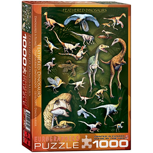 EuroGraphics Feathered Dinosaurs 1000 Piece Puzzle