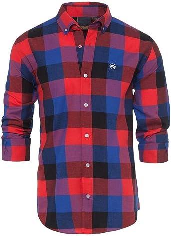 ALTONADOCK Camisa Cuadros Roja Y Azul para Hombre Medium Rojo ...