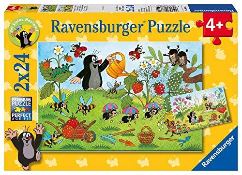 Ravensburger Kinderpuzzle 08861 - Der Maulwurf im Garten - 2 x 24 Teile