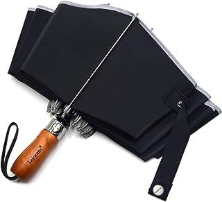 折り畳み傘 雨傘 おりたたみ傘 超撥水 ワンタッチ自動開閉 逆折り 折りたたみ傘 大きい 103cm メンズ 風に強い グラスファイバー 10本骨 コンパクト 木製ハンドル