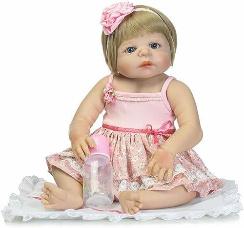 Simulation Babypuppe Reborn Silikon Vinyl Puppe Kinder Spielzeug Kinder Geburtstag 22 Zoll 57 cm