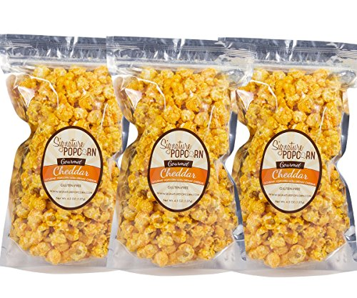 Review Of Signature Popcorn Large Resealable Bags of Gourmet Cheddar Cheese Popcorn-3 Pack