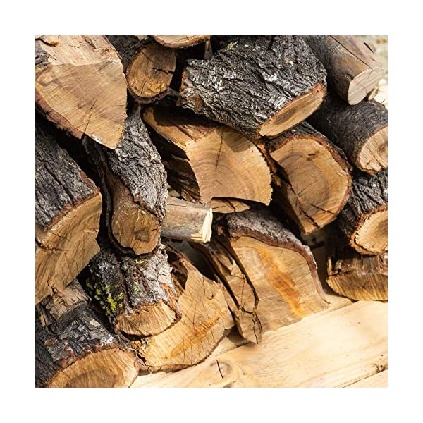 19 kg, 30 Litros leña para chimenea variada, alto poder calorífico. Troncos cortos 40 cm, Estufa, barbacoa, fuego al…