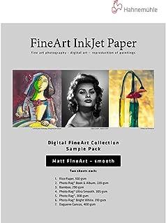 Hahnemuhle Matte Fine Art Smooth Archival Inkjet Paper Sample Pack, 8.5x11