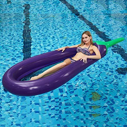 Aubergine Interactief Zwembad Strand Drijvend Water Hangmat Lounge Stoel, Opblaasbare Water Vlotten Drijvend Bed Rij Stoel, Water Sofa, Opblaasbaar Zwembad voor Volwassenen (Paars)