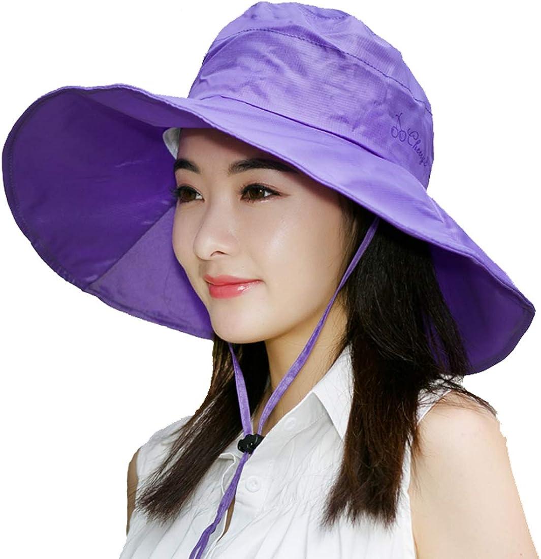 BeFur Fishing Rain Hat for Men Women Wide Brim UV Protection Boonie Hat Outdoor Safari Cap Purple at  Women's Clothing store