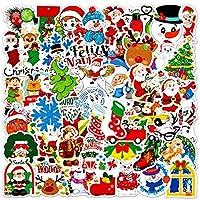 50pcsクリスマス装飾ステッカーメリーサンタクロースステッカーカースーツケーススクラップブック日記アルバム装飾文房具