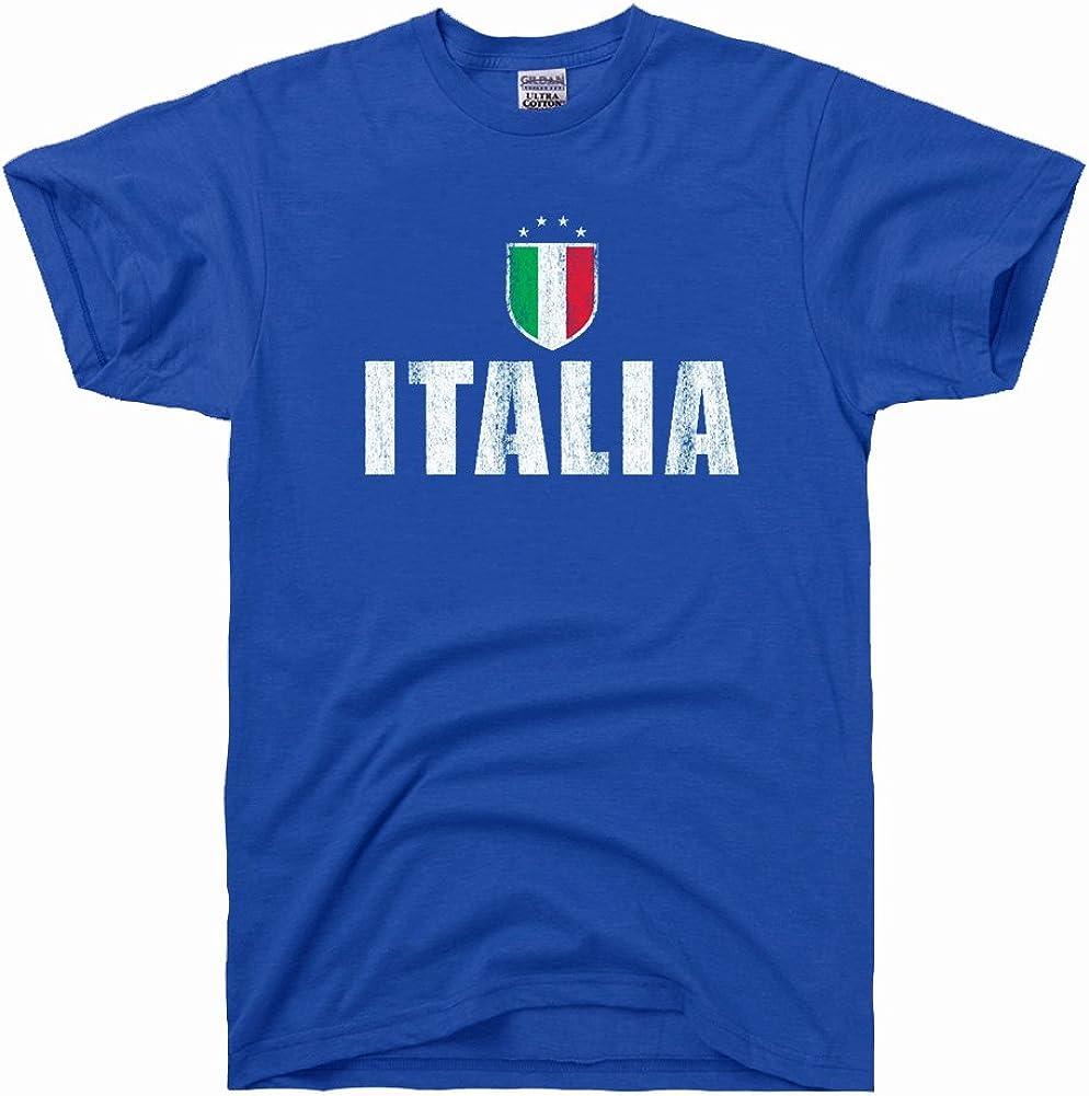 DirtyRagz Men's Ranking TOP8 Italia Futbol Max 79% OFF Soccer Shirt T Flag Vintage
