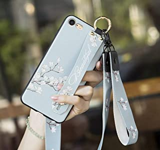 iPhone 8 Plus Case,iPhone 7 Plus Case,Apple 8Plus 7Plus for Girls/Women Wrist Strap Band Protector Protective Mobile Phone Cover Full-Body Bumper