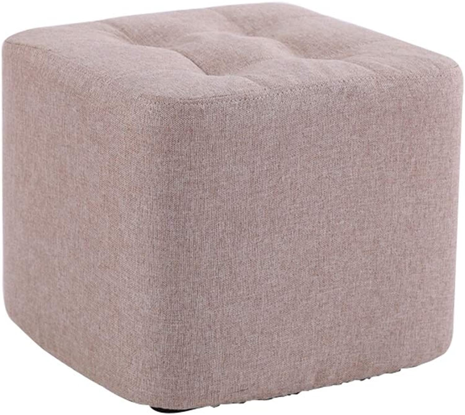 AGLZWY Footstool Sofa Stool Multipurpose Cloth Breathable Non-Slip Portable Square Creative Living Room Change shoes Bench Tea Table ,Multiple Colour (color   A, Size   29X19CM)