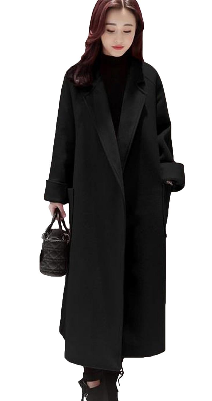 SHUNYI レディース 秋冬 トレンチコート ゆったり チェスターコート ひざコート ラシャコート おしゃれ ファッション ジャケット 無地