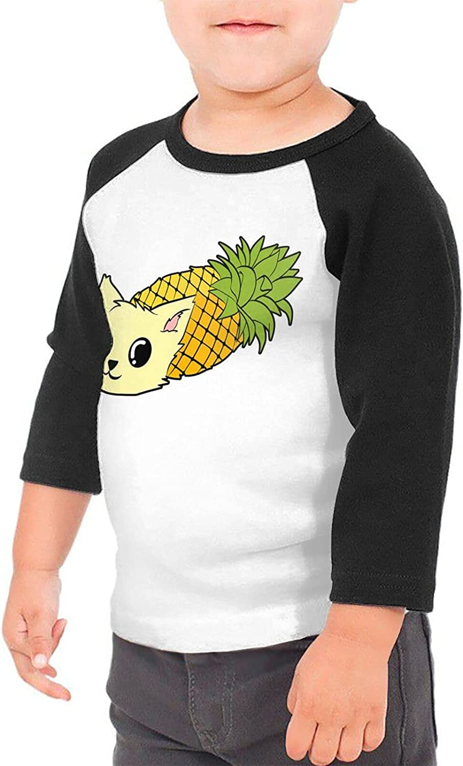 Pineapple Cat Kitten Cute Summer T-Shirts Novelty for Girls Tees with Cool Designs