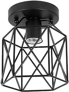 ZHMA Semi-Flush Mount lampa sufitowa, w stylu industrialnym, klosz, wytarty olej, wykończenie brązu, do korytarza, studia,...