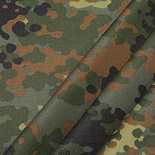 Stoff am Stück Stoff Baumwolle Polyester Flecktarn Deutschland Camouflage Tarndruck reißfest